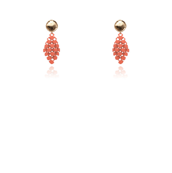 FABNORA | Salmon Red | Earrings Mini
