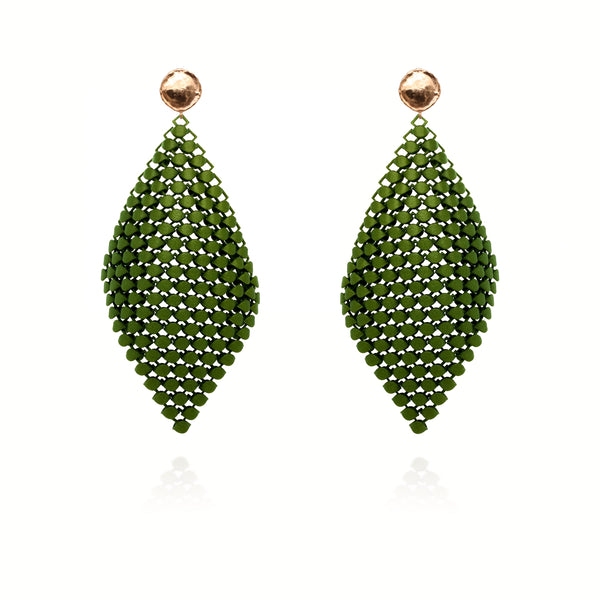 FABNORA | Olive Green | Earrings L