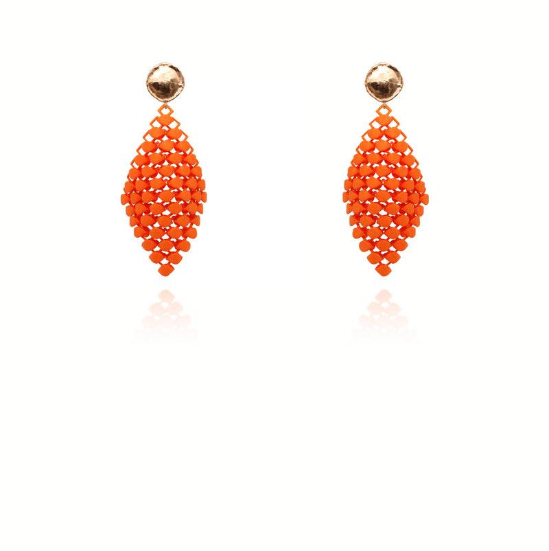 FABNORA | Vibrant Orange | Earrings S