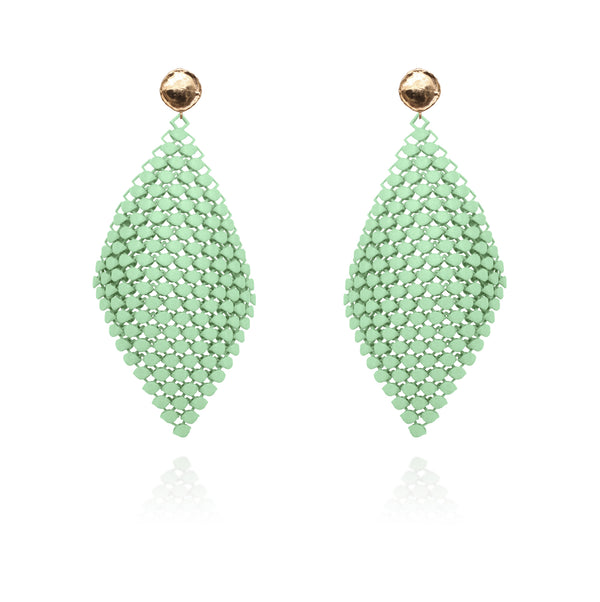 FABNORA | Peridot Green | Earrings L