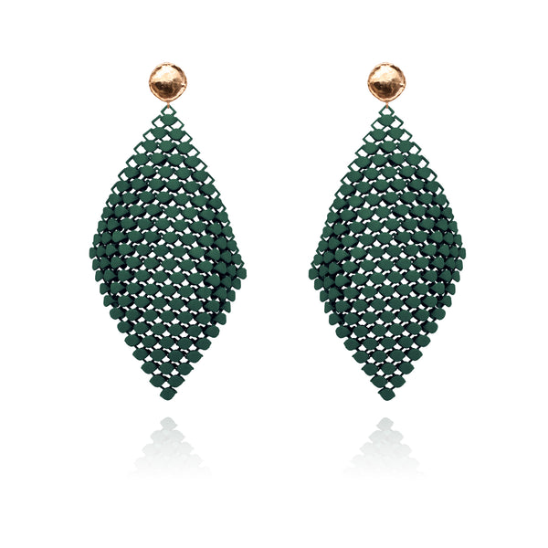 FABNORA | Pine Green | Earrings L