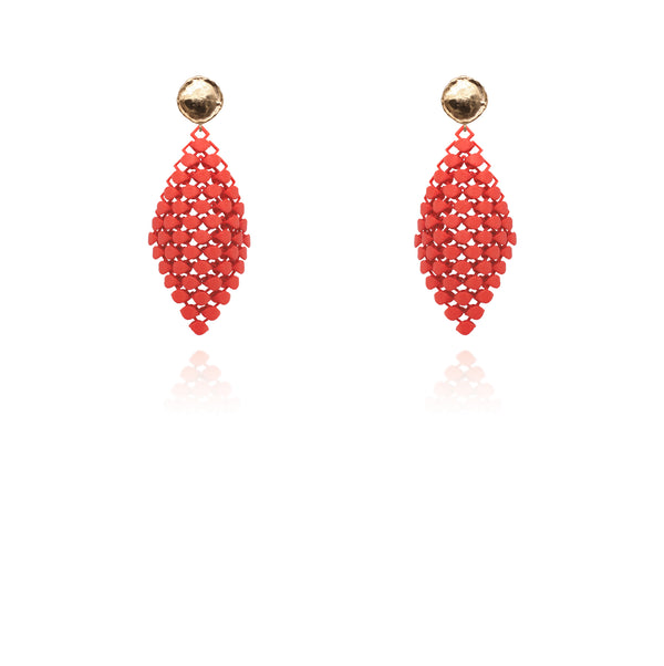 FABNORA | Lobster Red | Earrings S