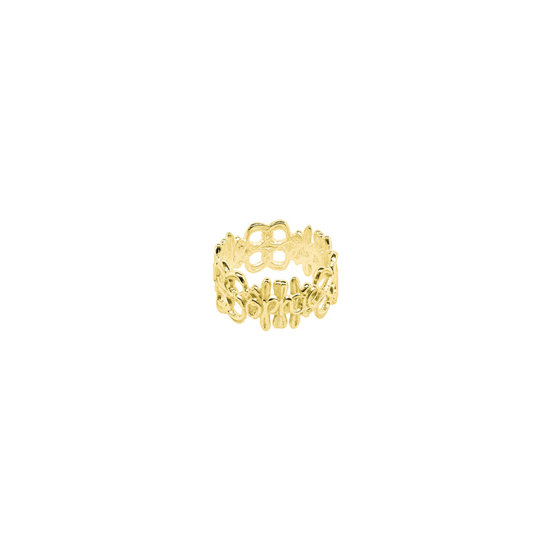 Signature Ring L Gold