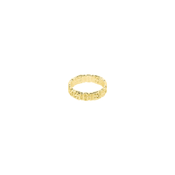 Signature Ring S Gold