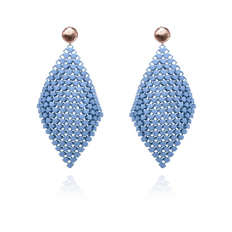 FABNORA AMALFI | Topaz Blue | Earrings L