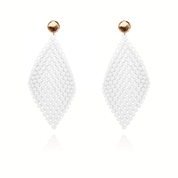 FABNORA | Cotton White | Earrings L