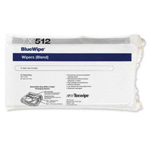 "TX512 BlueWipe® 12""x12""(31cmx31cm) cellulose/polyester-blend, C-Folded"