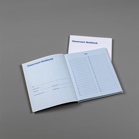 "TX5708 Cleanroom Notebook, TexWrite® 81⁄2""x11""(216mmx279mm) Blue paper stock, college ruled, numbered pages"
