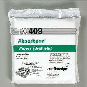 "TX409 Absorbond® 9""x9""(23cmx23cm) hydro entangled polyester wipers"