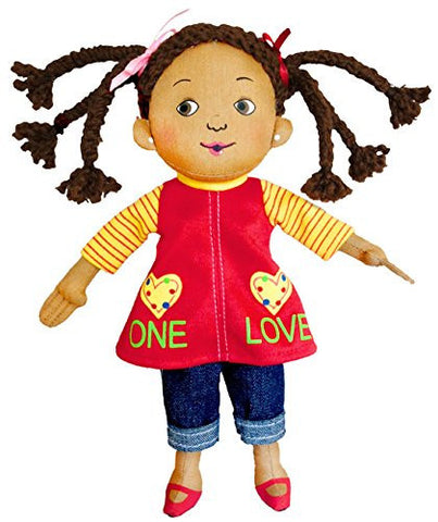 MerryMakers One Love Plush Doll, 9-Inch