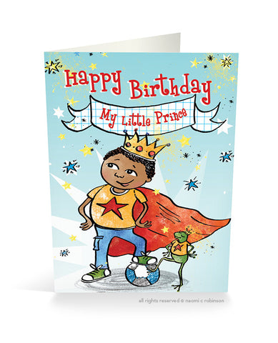 Happy Birthday My Little Prince Card