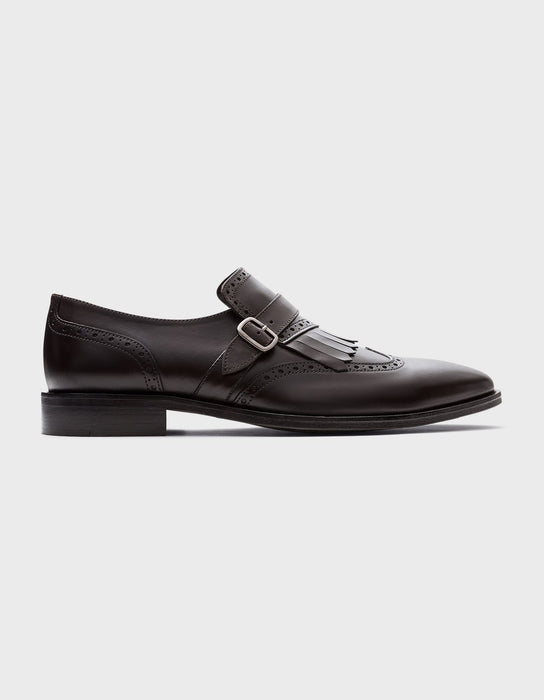 SALERNO.| SINGLE MONK STRAP. BRAUN