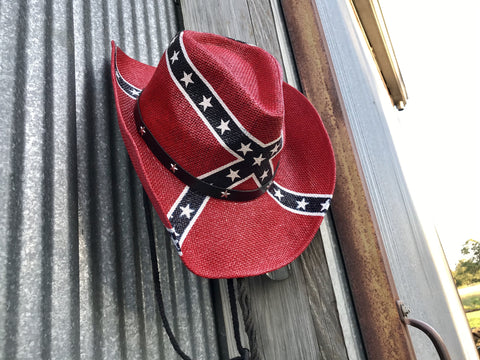 Rebel Flag Cowboy Hat