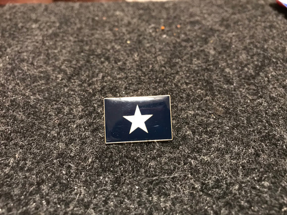 Bonnie Blue Confederate Rebel Flag Pin