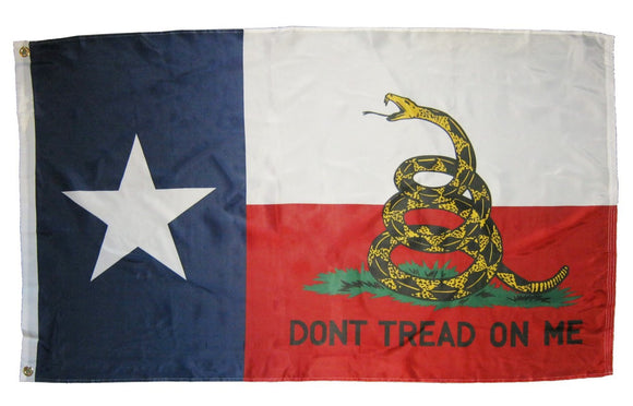 Texas Gadsden Don't Tread On Me State Flag