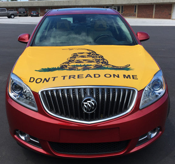 Dont Tread On Me Flag Hood Cover