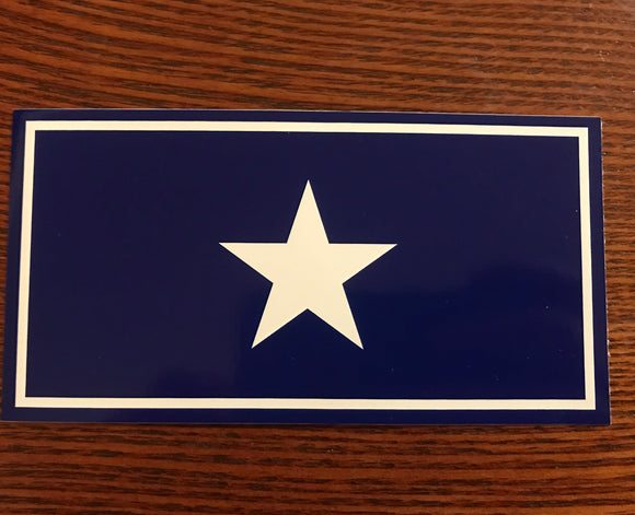 Bonnie Blue Confederate Rebel Flag Sticker