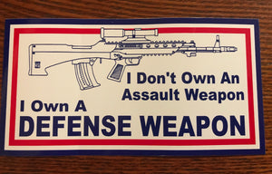 I Own A Defense Weapon Sticker