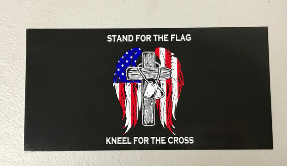 Stand For The Flag Kneel For The Cross Sticker