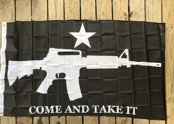 Come and Take It M4 Tactical 3'x5' flag