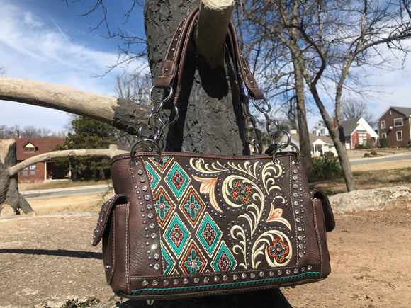 Montana West Embroidered Handbag