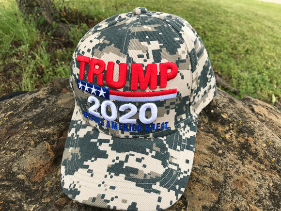Trump 2020 Digital Camo 3D Hat