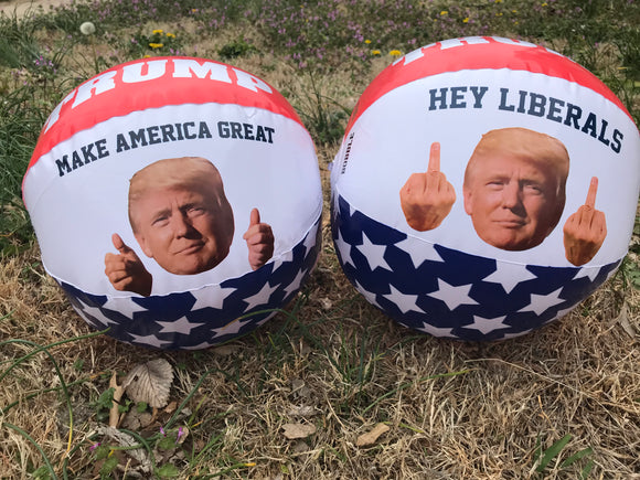 Trump Middle Finger Beach Ball