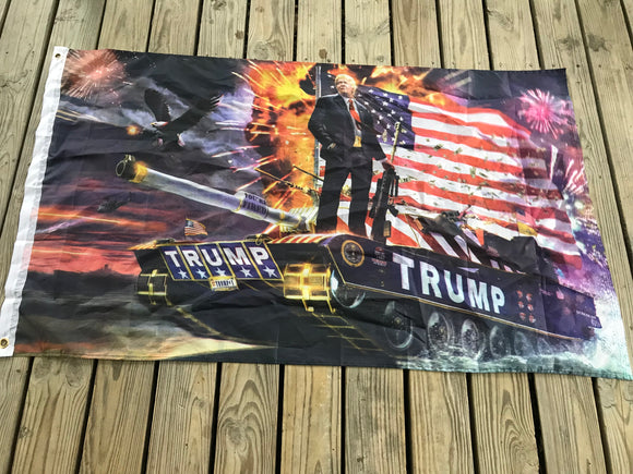 Donald Trump Tank USA Flag