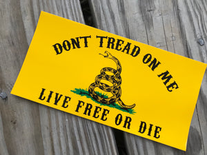 Gadsden Live Free or Die Sticker