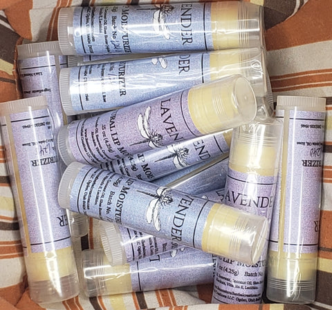 Natural Lip Moisturizer - Lip Balm - 100% Natural w/Essential Oils