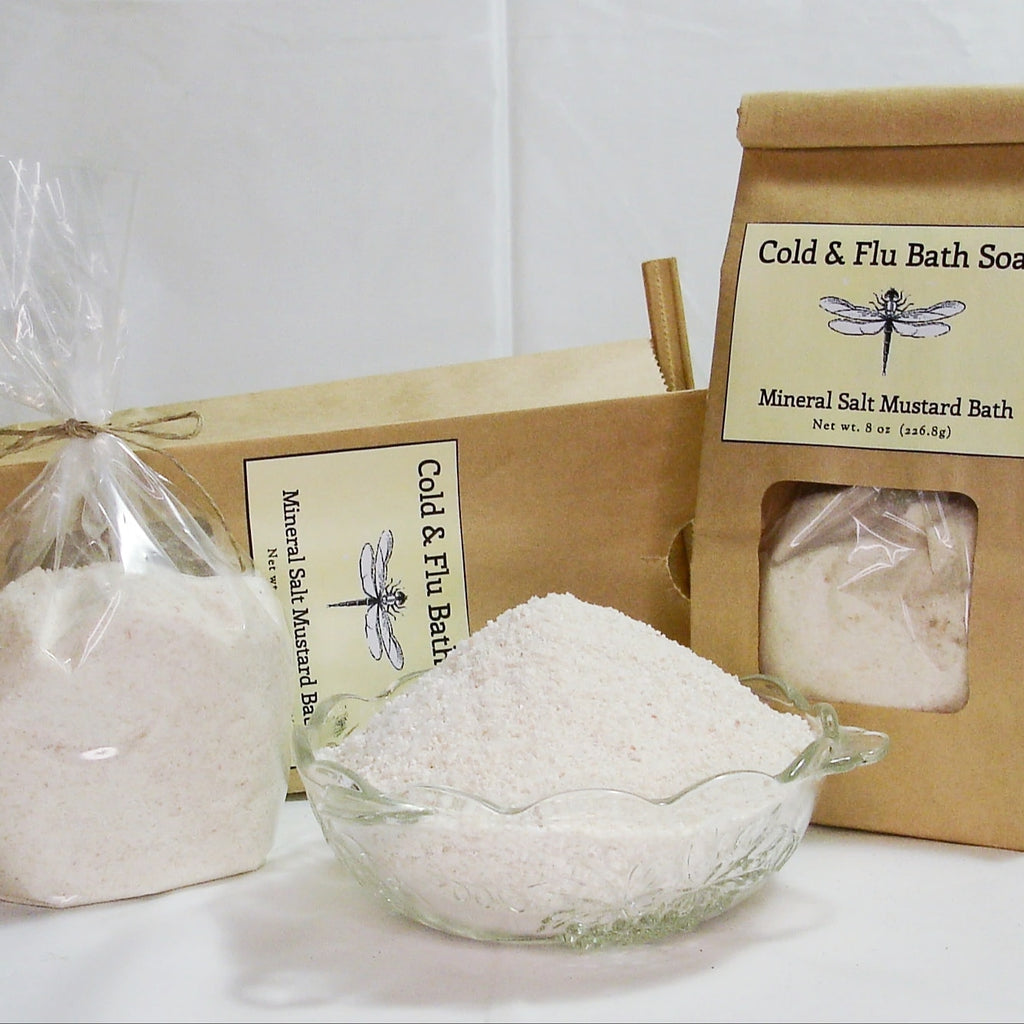 Cold & Flu Bath Soak - Mineral Salt Mustard Bath