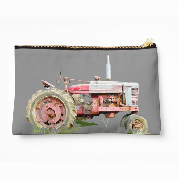 Pink Tractor! Pouch