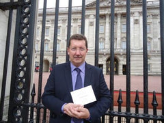 Michael Mahoney at Buckingham Palace