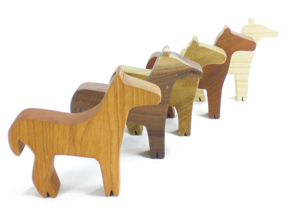 Wooden Horse Toy Party Favor