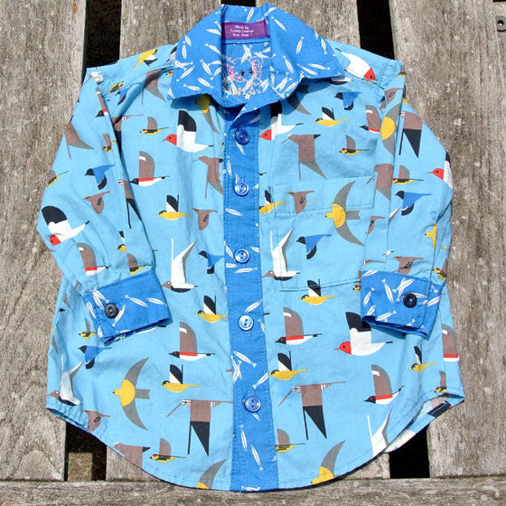 Boys Bluebirds Button-Up Shirt