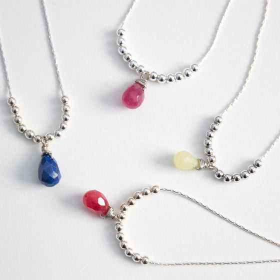Briolette Gemstone Necklace