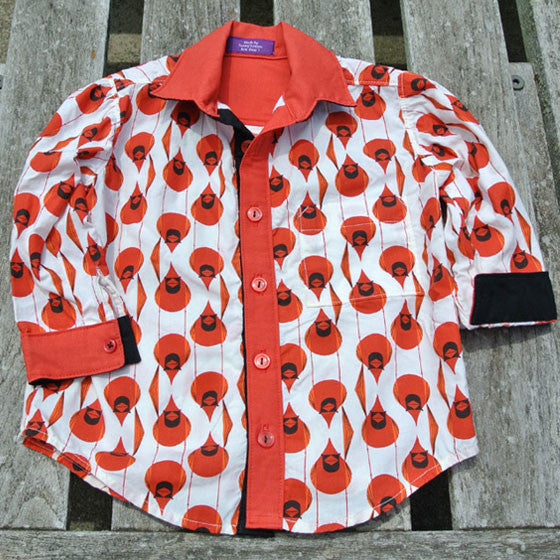 Boys Cardinal Button-Up Shirt