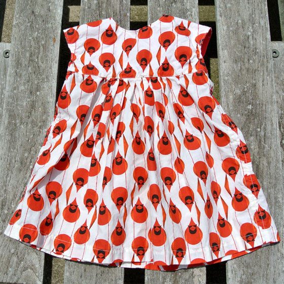 Girls Geranium Cardinal Dress