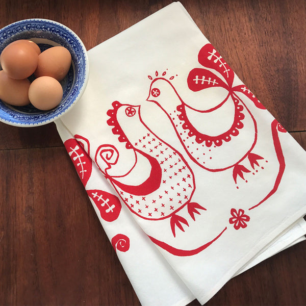 French Chicks Tea Towel