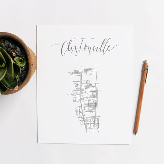 Calligraphy 'Hood Map: Clintonville