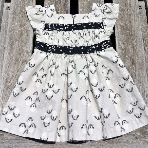 Black and Grey Girl's Party Dress