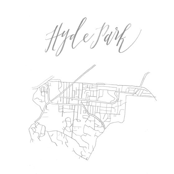 Calligraphy 'Hood Map: Hyde Park