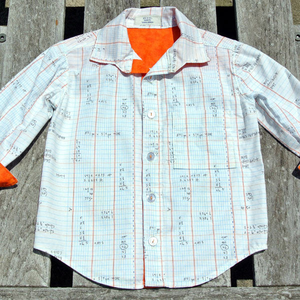 Boys Spreadsheet Button-Up Shirt