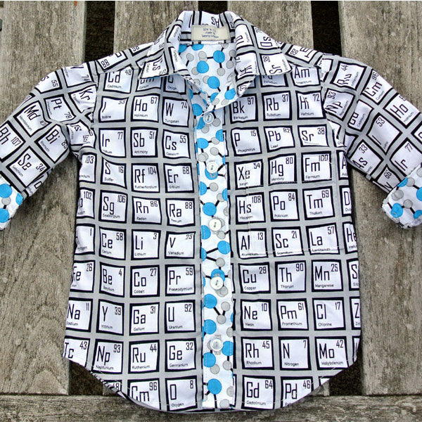 Boys Periodic Table Button-Up Shirt