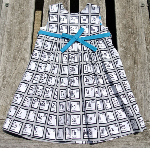 Girls Geranium Periodic Table Dress