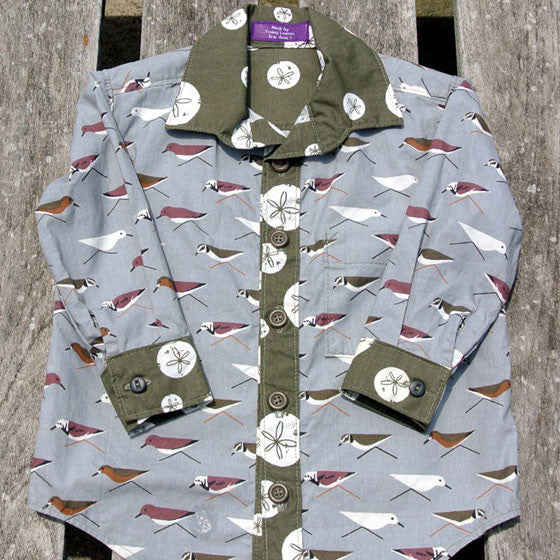Boys Sandpiper Button-Up Shirt