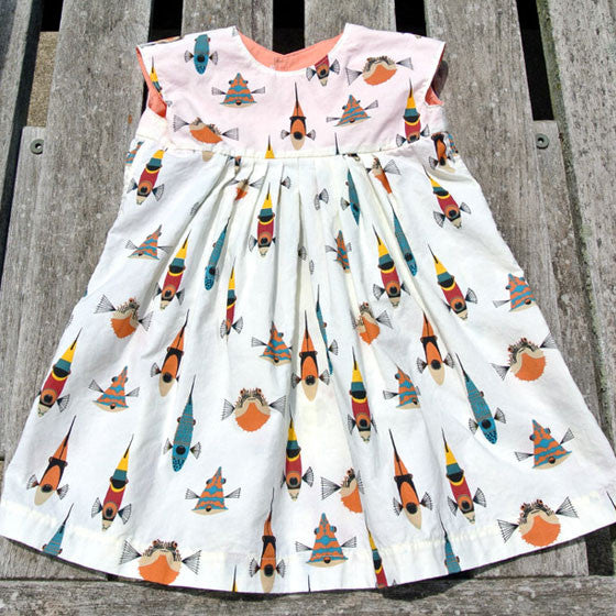 Girls Geranium Sea Creatures Dress