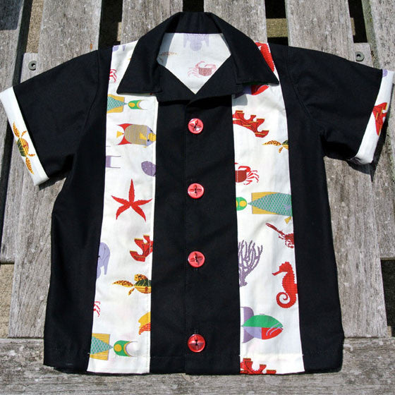 Boys Sea Creature Bowling Shirt