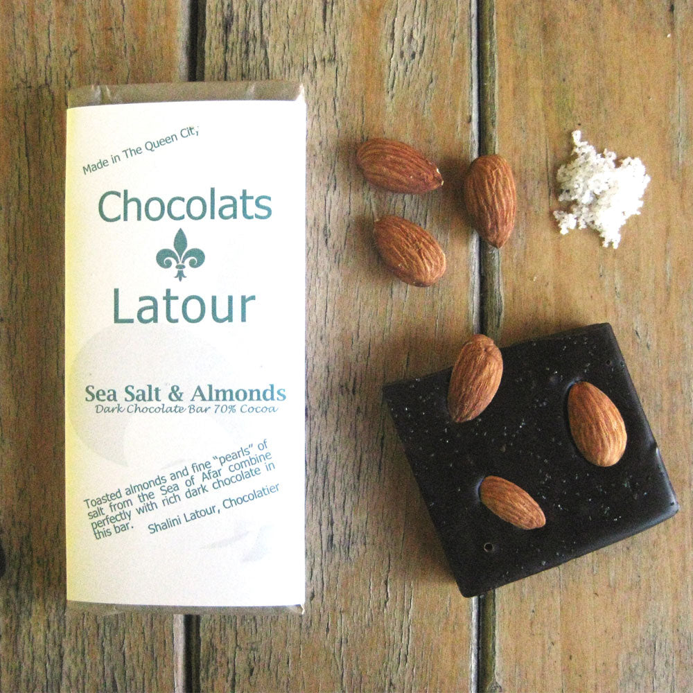 Sea Salt and Almond Chocolate Bar