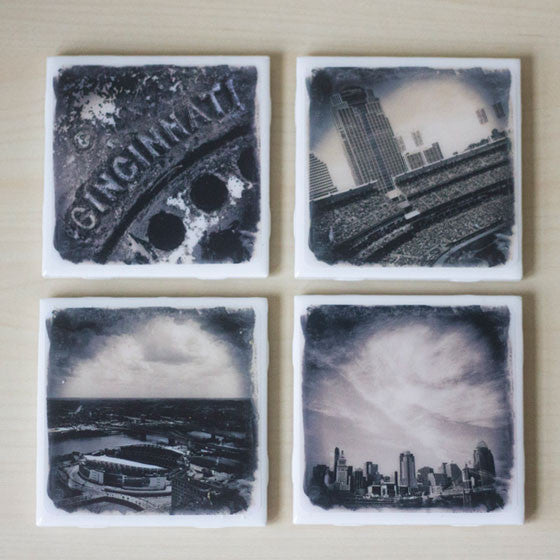 Cincinnati Stadiums Coaster Collection